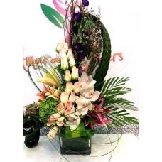 Basket Flowers Bouquet 004